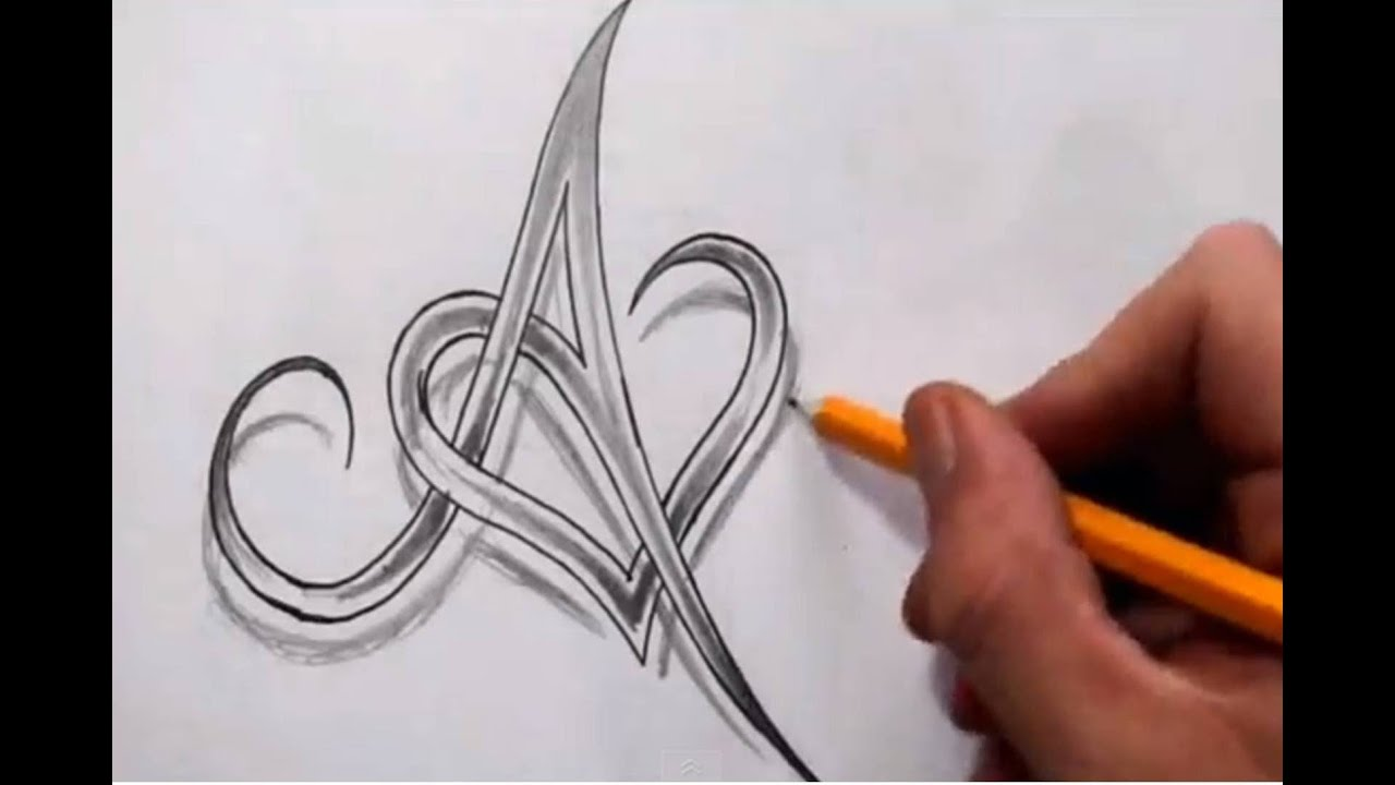 Initial A And Heart Combined Together