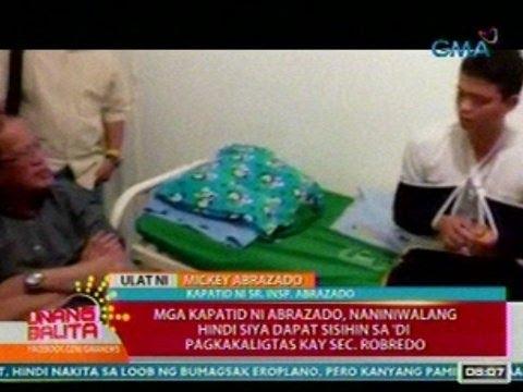 UB: Panayam kay Mickey Abrazado, kapatid ng nakaligtas na aide-de-camp ni Sec. Robredo