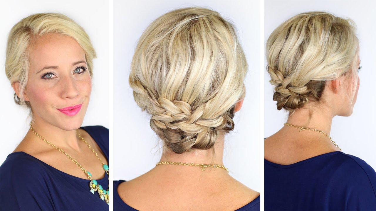bohemian braids for short hair   diy