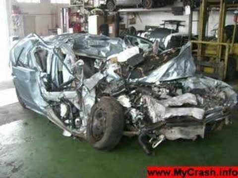 Destroyed Volkswagen Passat Crash Youtube