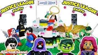 Teen Titans Go Lego Mini Figures Sneak Into Justice League Stop Motion Dance Party by EpicToyChannel
