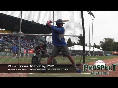 Clayton Keyes Prospect Video, OF, Bishop Carroll High School Class of 2017