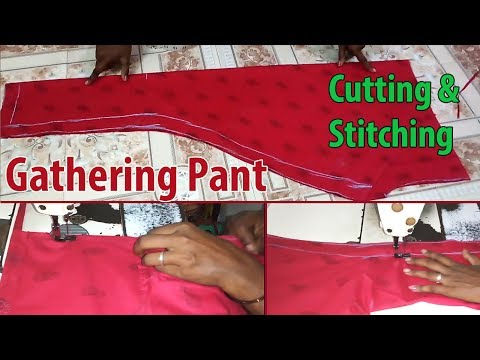 Chudidar Gathering Pant Cutting and Stitching Full Tailoring Class With Pant Measurement-Stitching