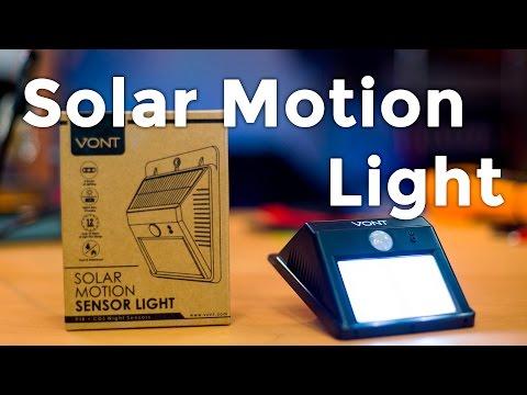 Let's Open: Solar Motion Sensor LED Light from Vont - Review, Teardown, and Installation