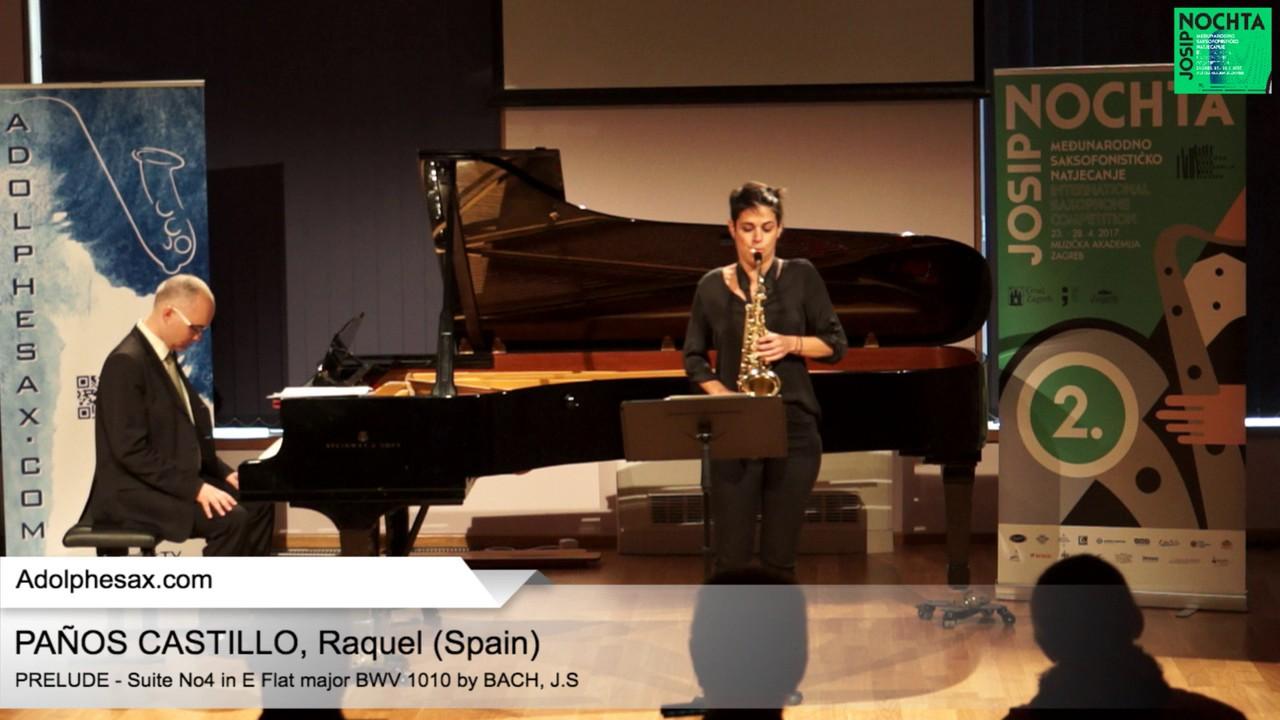 Johann Sebastian Bach – Suite No 4 in E  at major BWV 1010 – Pre?lude – PAN?OS, Raquel (Spain)