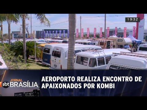 Aeroporto realiza encontro de apaixonados por Kombi Jornal SBT Brasília 13/08/2018
