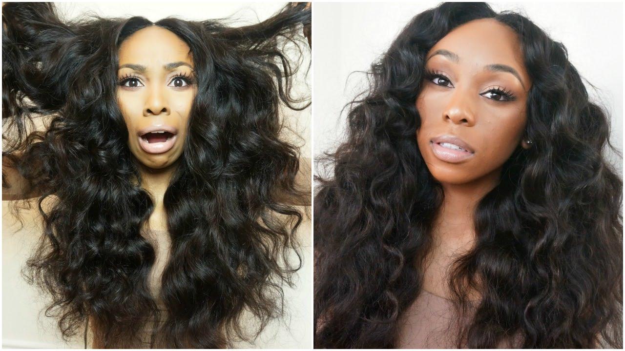 Deep side bang full wig tutorial ft. Aliexpress vip beauty hair.