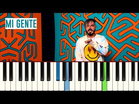 💎J Balvin Willy William   Mi Gente  - Piano tutorial - Master Teclas💎