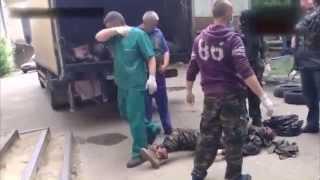 Убитые ополченцы в Украине Убитые люди  Грузовик с трупами    Donetsk  Shock!