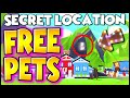 This *SECRET* Location Gets You FREE LEGENDARY PETS in Adopt Me!! LEGIT!! (WORKING 2020!!) PREZLEY!