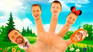 Finger Family Song Daddy Finger Сборник видео для детей от Рома и Кирилл