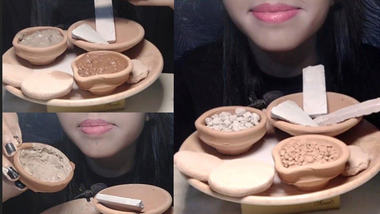 Download #ASMR Claypot , Slates, Punjab biscuit Diya with Nakumatt and Red Clay paste, shale stone 🎃#mukbang