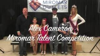 Alex wins Miromar Talent Competition!