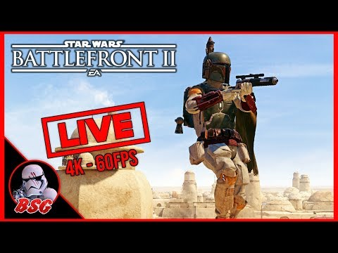 4 Days Till Dooku! Star Wars Battlefront 2 PC and PS4 Gameplay | 4K Live Stream (4K 60FPS) thumbnail