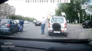 Самые жистокие ДТП, аварии драки на дороге на видеорегистратор 2015
