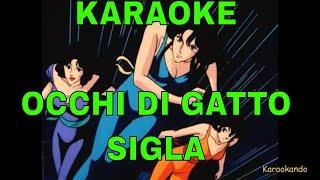 """Karaoke - """"OCCHI DI GATTO"""" Sigla - Cristina D'avena- Cartoni Animati (TESTO)"""