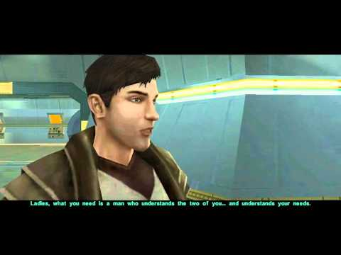 KotOR 2 - Atton meets the Twin Suns (again) in Goto's Yacht