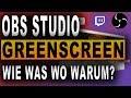 GREENSCREEN (2018) | OBS Studio Tutorial | Facecam ohne Hintergrund | Deutsch / German