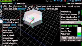 spacedraw уроки настройка интерфейса ( урок №2 )  (на русском) моделирование на android