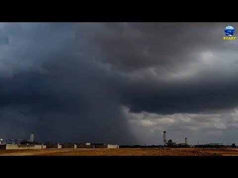 اعصار قمعي وسحب خارقة مهيبة تجوب سماء غرب السعودية ، ينبع ، الوجه ، املج