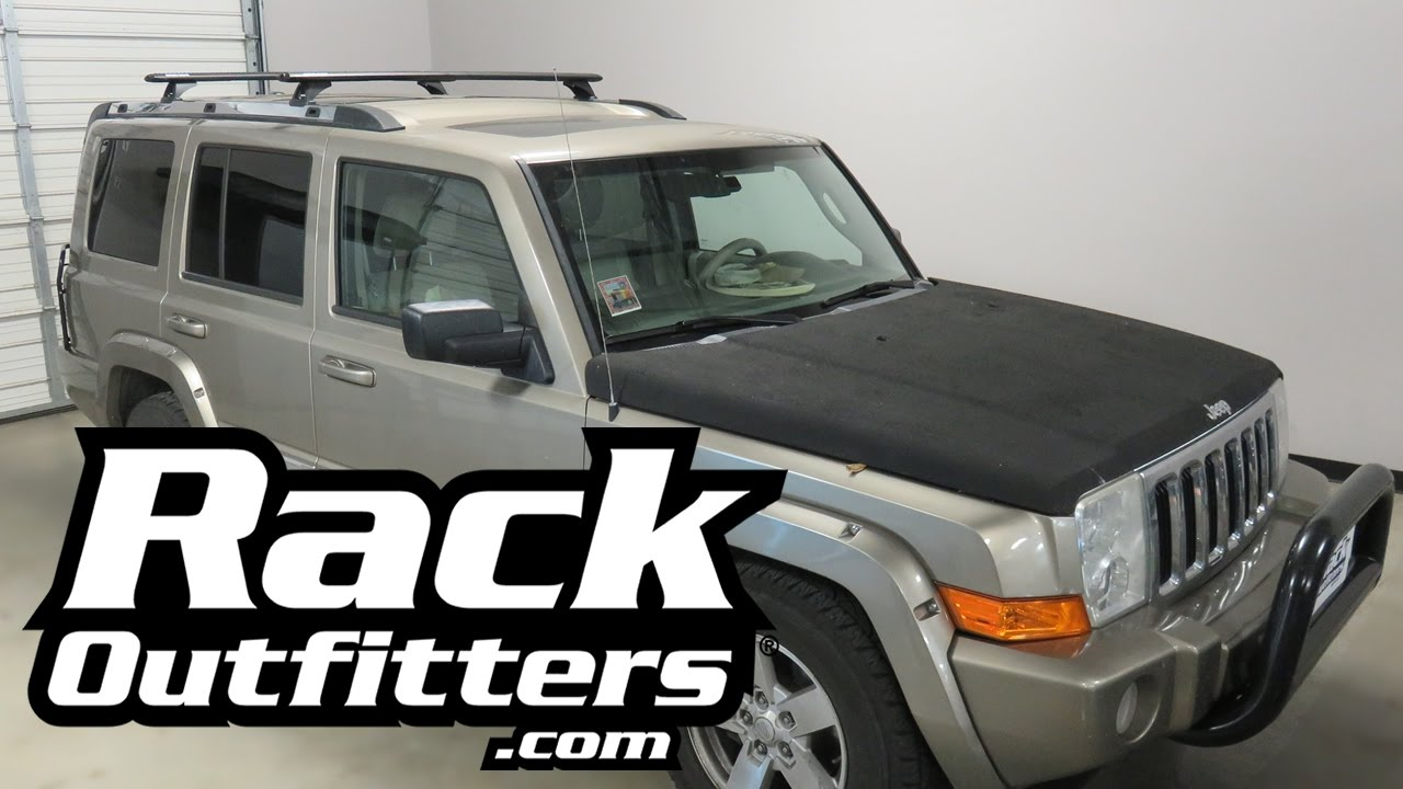 Jeep Commander with Rhino Rack RLCP Vortex Roof Rack ...