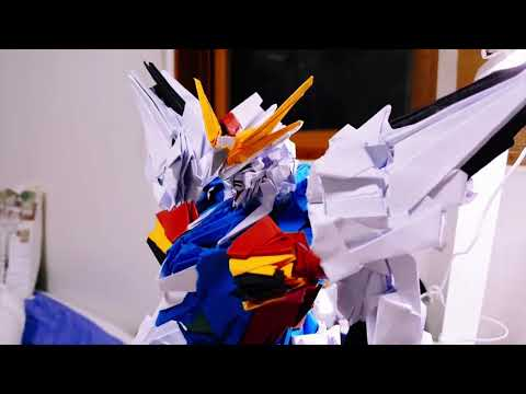 Origami pieces | Making the Paper Gundam X Maoh  [ Paper Robot Art]