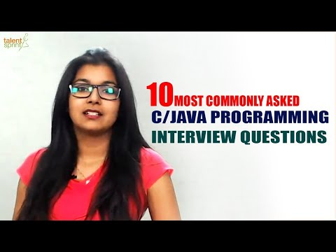 10 Most Commonly asked C/Java Programming Interview Questions | TalentSprint
