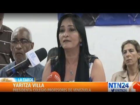Profesores en Venezuela piden ganar entre 3 y 5 salarios mínimos