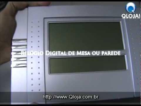 05a118181c2 Relógio Digital de Parede e Mesa com Termômetro e Despertador qloja ...