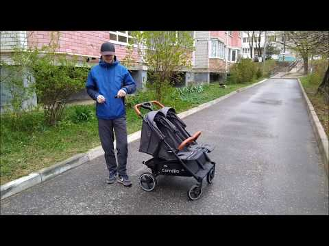 Прогулочная коляска для двойни Carrello Connect 2019