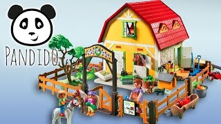 Playmobil Ponyhof - ausgepackt und angespielt - Pandido TV