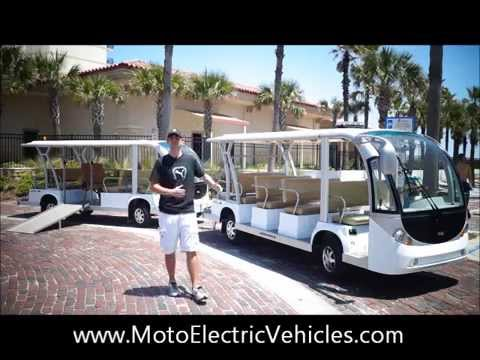 6 Passenger Vehicles >> 27 Passenger Electric Tram Shuttle | Wheelchair People Movers for Sale - YouTube