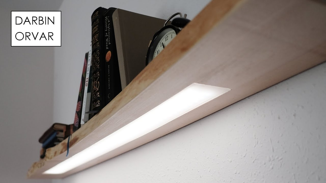 Floating Shelf W Hidden Led Lighting Youtube
