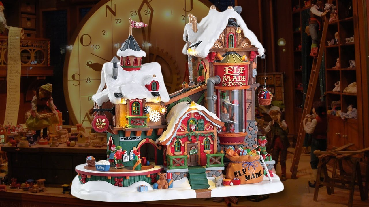 lemax elf made toy factory review new for 2017 michaels exclusive - Christmas Village Sets Michaels