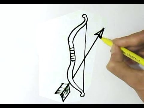 how to draw bow and arrow easy step by step for children kids beginners