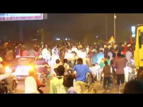 L'ambiance à Ouaga après la victoire du Burkina Faso face au Ghana.