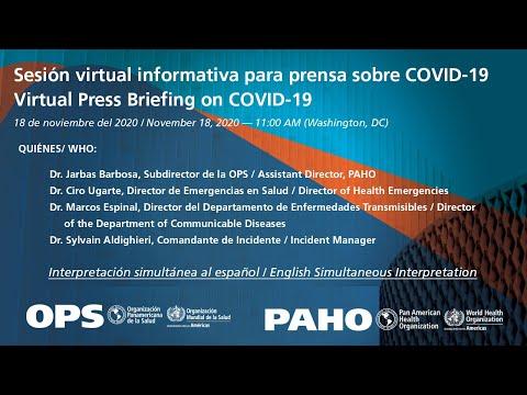 Conferencia de Prensa OPS COVID-19 Novembre 18 2020 AUDIO ESPANOL