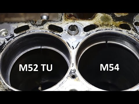 BMW e46 M54 oil burning FIX rings comparison with M52tu ,different design ,why ?