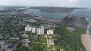 г.Черноморск Одесской области побережье с высоты птичьего полета  22 мая 2016 года