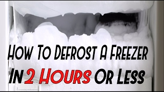 How To Defrost Y๐ur Freezer In 2 Hours or Less