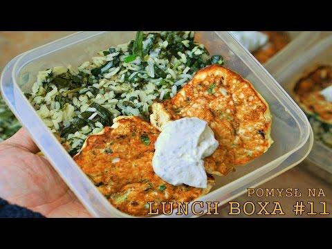 Pomysl Na Lunch Boxa 11 Placki Z Kurczaka Zielony Ryz Polane