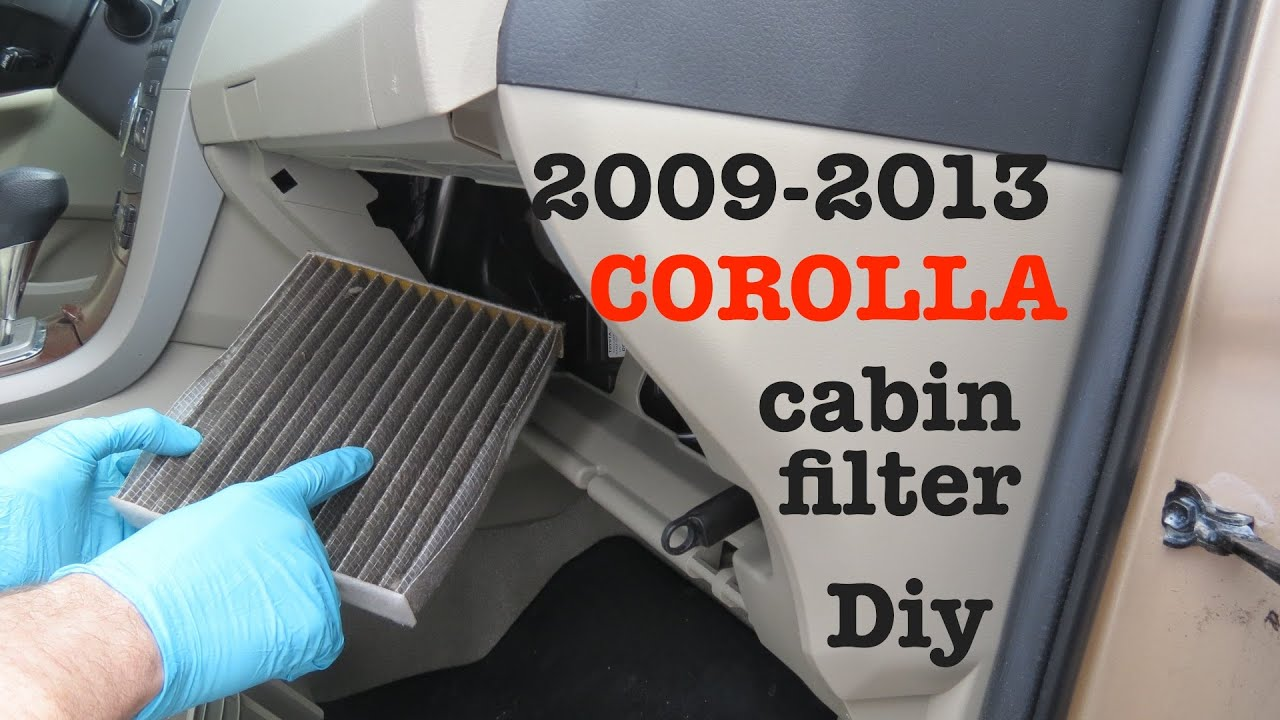 how to change your 2008 2013 toyota corolla cabin air filter dust and poll. Black Bedroom Furniture Sets. Home Design Ideas