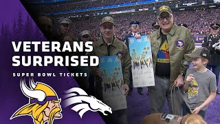 Minnesota Vikings and Polaris Surprise Veterans With Super Bowl Tickets