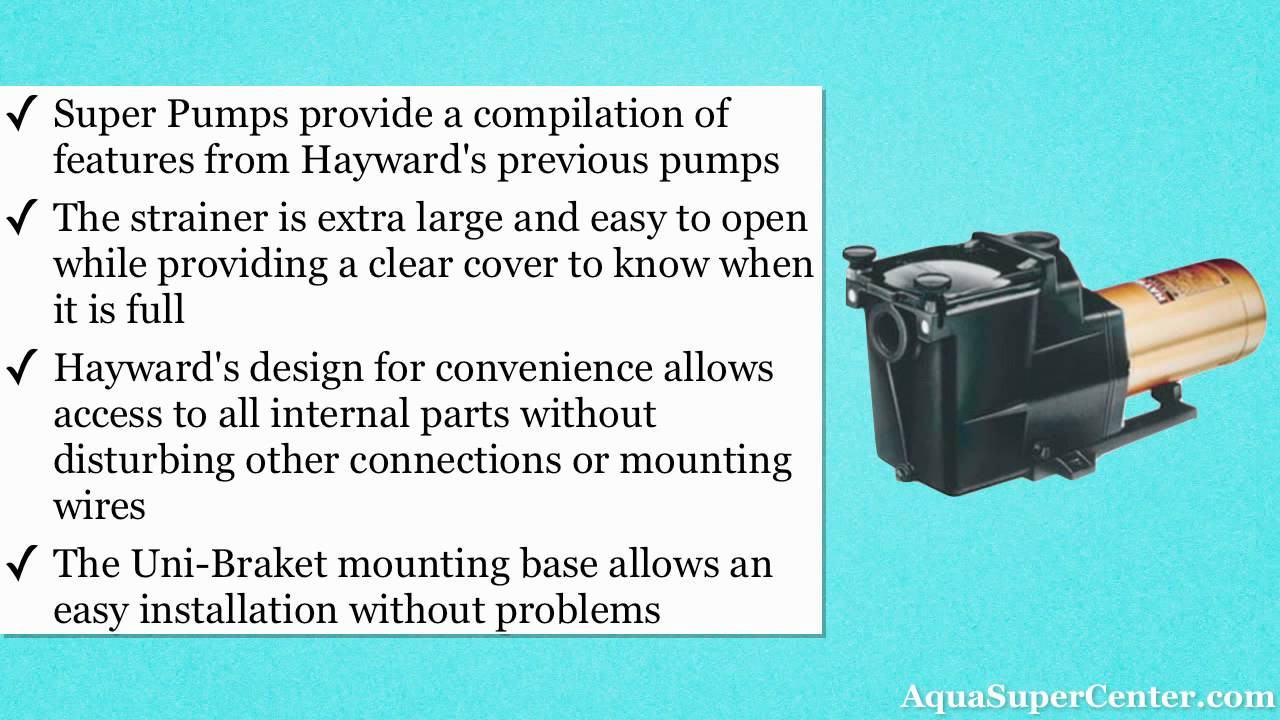 Hayward Super Pump and Hayward Super II Pool Pumps - YouTube