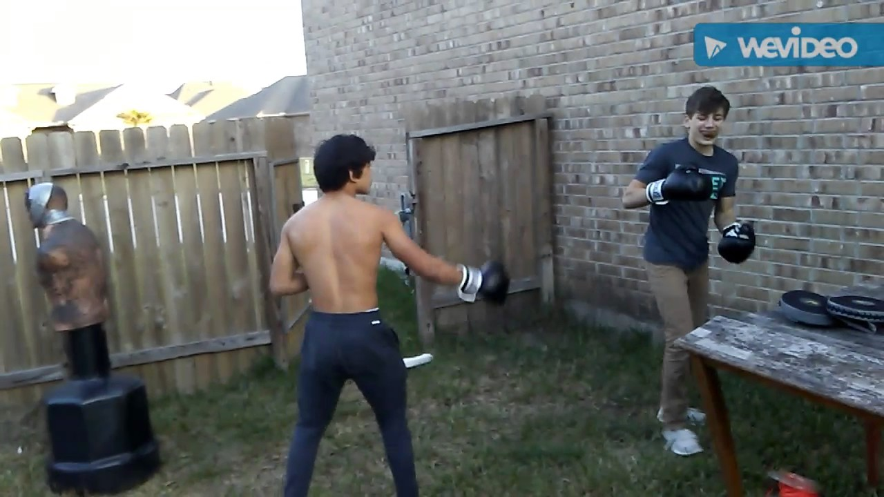 Backyard Boxing backyard boxing justin serna vs brayden taunting goes right - youtube