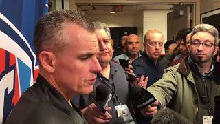 Billy Donovan Postgame Interview / Thunder vs Sixers / Dec 15