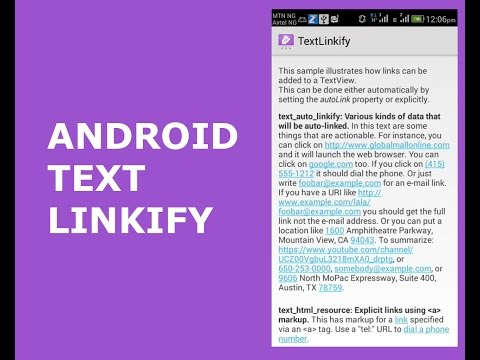 ANDROID TEXT LINKIFY