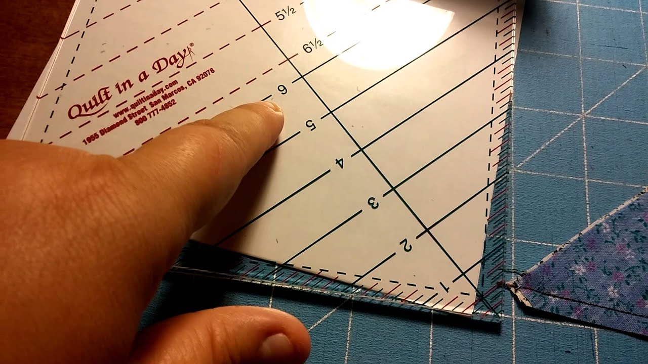 6 1/2 Triangle Square Up Ruler by Quilt in a Day - YouTube : quilt in a day ruler - Adamdwight.com