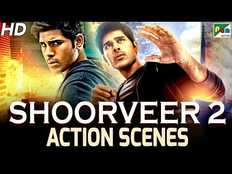 Shoorveer 2 - Best Action Scenes | Hindi Dubbed Movie | Okka Kshanam | Allu Sirish, Surbhi Puranik
