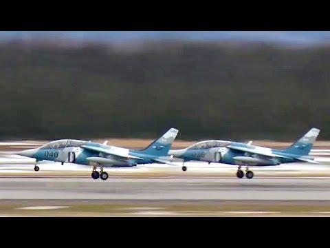 Private Fighter Jets For Hire: Alpha Jets Takeoff At 5 Wing Goose Bay